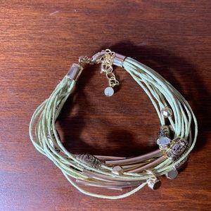 Lucky Brand Multi-Wrap Light Green Bracelet